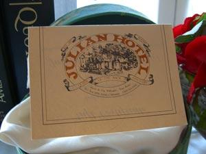 Julian Gold Rush Hotel Gift Certificate
