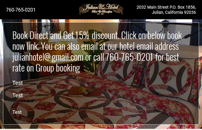 Book direct and get a 15% savings