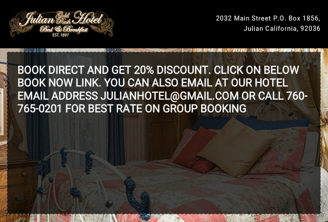 Book direct and get a 20% savings